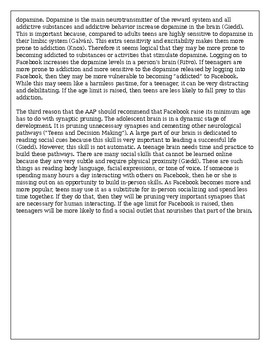 """NYS Expeditionary Learning- """"Screen Time..."""" Argumentative Writing Assignment"""