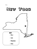 NYS Geography Color Me/Label Me