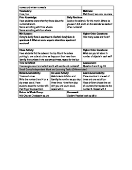 NYS Go Math Kindergarten Chapters 1-12