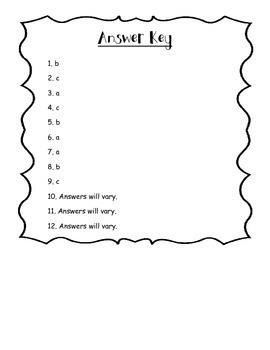 EngageNY 3rd Grade ELA Module 2A: Unit 2: Lessons 10-12 Vocabulary Quick Check