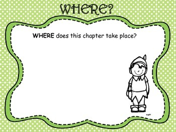 Peter Pan Where/Who/What Anchor Chart