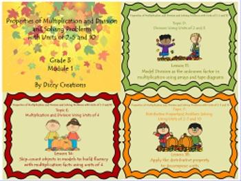 NYS Grade 3 Math Module 1 Topics D,E and F Flipcharts
