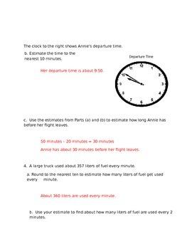 NYS Grade 3 Math Module 2 Review Sheets