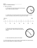 NYS Grade 3 Math Module 2 Review Sheets