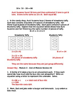 NYS Grade 3 Math Module 3 Review Sheets