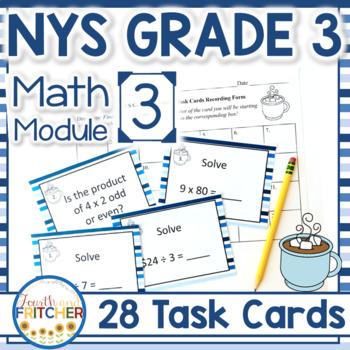 Math module 3 grade 6 teaching resources teachers pay teachers nys grade 3 math module 3 task cards fandeluxe Choice Image