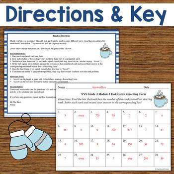 NYS Grade 3 Math Module 3 Task Cards
