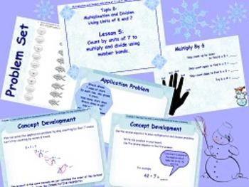 NYS Grade 3 Math Module 3 Topic A and B Flipcharts