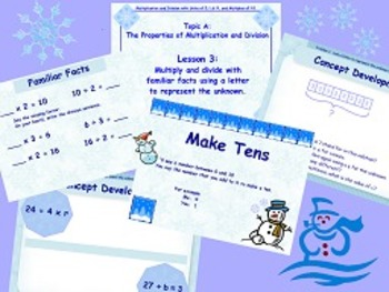 NYS Grade 3 Math Module 3 Topic A and B PowerPoints