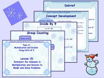 NYS Grade 3 Math Module 3 Topics C and D Flipcharts