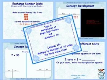NYS Grade 3 Math Module 3 Topics E and F Flipcharts