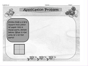NYS Grade 3 Math Module 4 Application Problems
