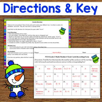 NYS Grade 3 Math Module 4 Task Cards