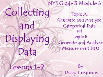 NYS Grade 3 Math Module 6 Topics A and B Flipcharts