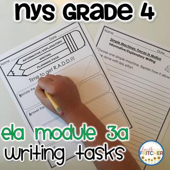 NYS Grade 4 ELA Module 3A Writing Tasks Pack