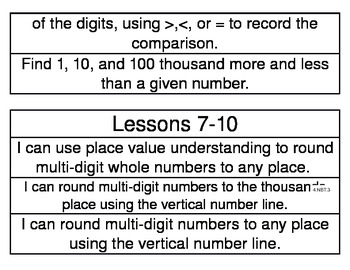 NYS Grade 4 Math Module 1 Learning Targets