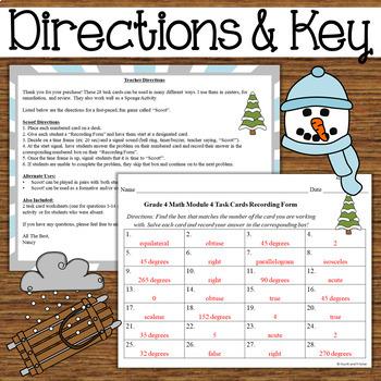NYS Grade 4 Math Module 4 Task Cards