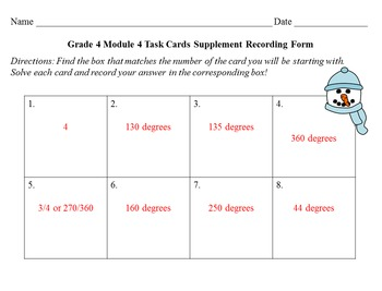 NYS Grade 4 Math Module 4 Task Cards Supplement {FREEBIE}