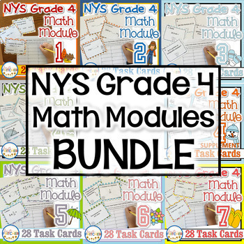 NYS Grade 4 Math Modules Task Cards BUNDLE!