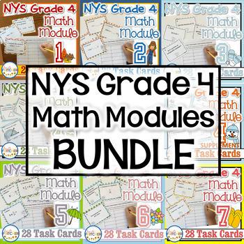 NYS Grade 4 Math Modules Task Cards BUNDLE!