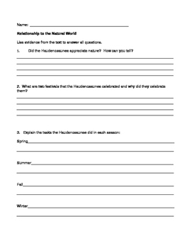 NYS Grade 4 Social Studiess Inquiry 1 reading response worksheets
