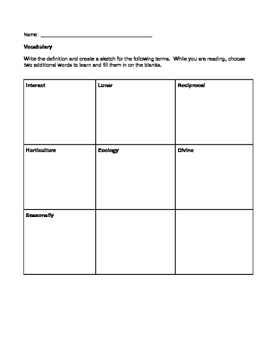 NYS Grade 4 Social Studiess Inquiry 1 reading response worksheets