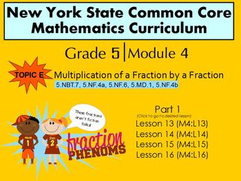 NYS Grade 5 Math Module 4 Topic E (part 1) lessons 13-16