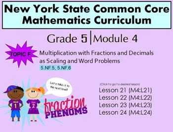 NYS Grade 5 Math Module 4 Topic F lessons  21-24
