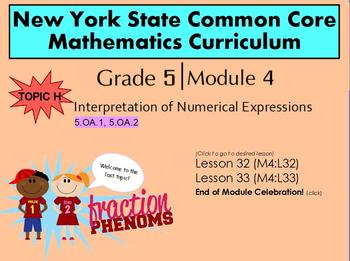 NYS Grade 5 Math Module 4 Topic H  Lessons 32-33
