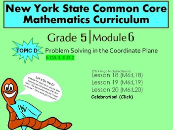 NYS Grade 5, Math Module 6, Topic D, Lessons 18-20