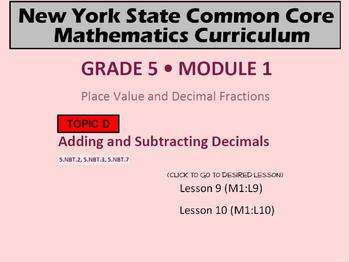 NYS Grade 5 Module 1 Topic D Lessons 9-10