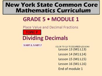 NYS Grade 5 Module 1 Topic E Lessons 13-16