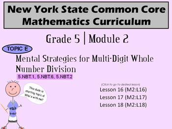 NYS Grade 5 Math Module 2 Topic E Lessons 16-18