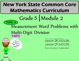 NYS Grade 5 Math Module 2 Topic H Lessons 28-29