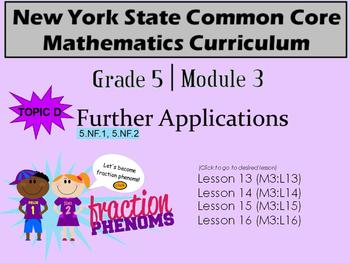 NYS Grade 5 Math Module 3 Topic D Lessons 13-16