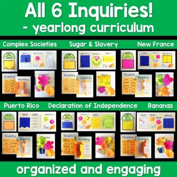 NYS Grade 5 Social Studies Inquiries BUNDLE