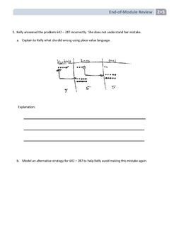 NYS Math - Grade 2 - Module 5 End of Module Review Sheet (with Answer Key)