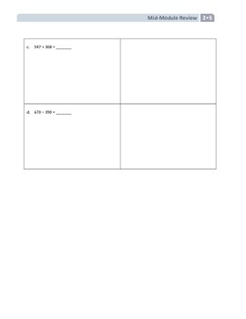 NYS Math - Grade 2 - Module 5 Mid-Module Review Sheet (with Answer Key)