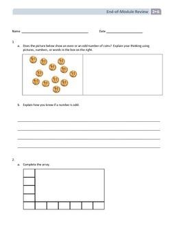 NYS Math - Grade 2 - Module 6 End of Module Review Sheet (