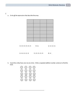 NYS Math - Grade 2 - Module 6 Mid-Module Review Sheet (with Answer Key)