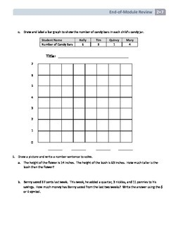NYS Math - Grade 2 - Module 7 End of Module Review Sheet (with Answer Key)
