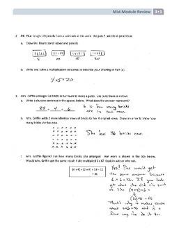 NYS Math - Grade 3 - Module 1 Mid-Module Review Sheet