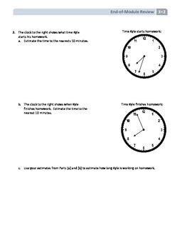 NYS Math - Grade 3 - Module 2 End of Module Review Sheet (with Answer Key)