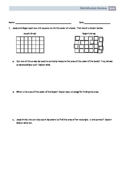 NYS Math - Grade 3 - Module 4 Mid-Module Review Sheet (With Answer Key)