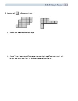 NYS Math - Grade 3 - Module 7 End of Module Review (with Answer Key)