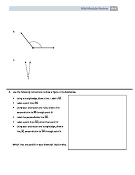 NYS Math - Grade 4 - Module 4 Mid-Module Review Sheet (with Answer Key)