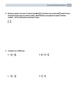 NYS Math - Grade 4 - Module 5 End of Module Review Sheet (with Answer Key)
