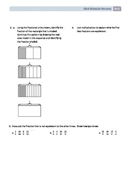 NYS Math - Grade 4 - Module 5 Mid-Module Review Sheet (with Answer Key)