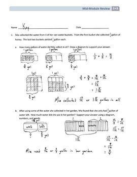 NYS Math - Grade 5 - Module 3 Mid-Module Review Sheet (with Answer Key)