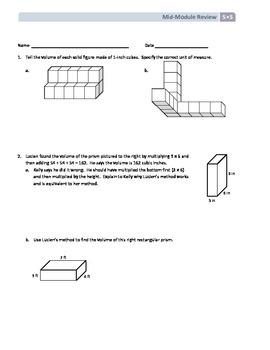 NYS Math - Grade 5 - Module 5 Mid-Module Review Sheet (wit